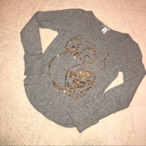 Other - 🌻 Old Navy Waffle Knit Gold Owl Shirt S (6/7)